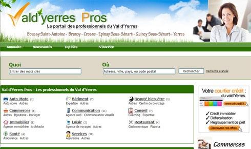 Cap Visibilité met en ligne le portail Val d'Yerres Pros
