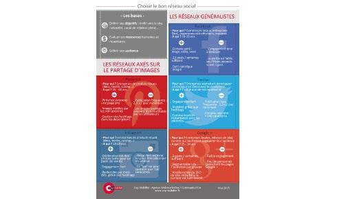 Infographie : Choisir le bon réseau social en fonction de son activité