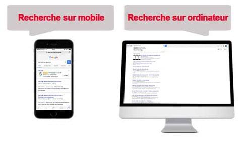 Google : les recherches sur mobile dépassent celles sur ordinateur