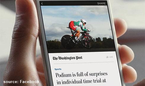 Les «Instant articles» de Facebook bientôt ouverts à tous