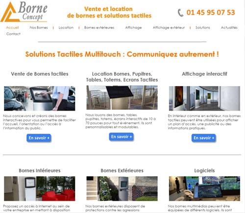 site web borne concept