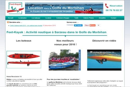 creation site web feet kayak