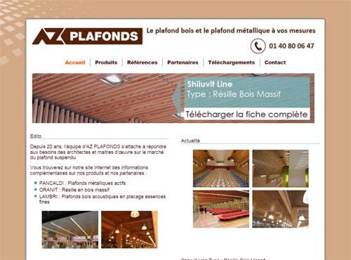 creation site web az plafonds