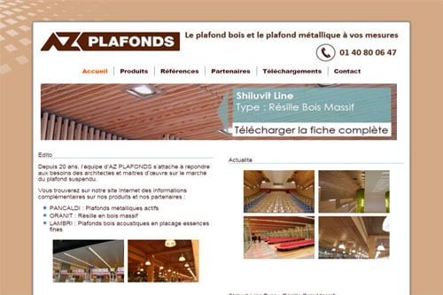 creation site web az plafonds