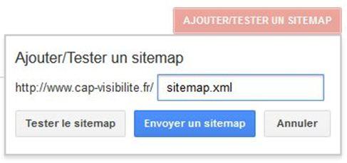 Sitemap outil Webmaster Google