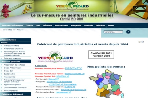 site web vernis picard