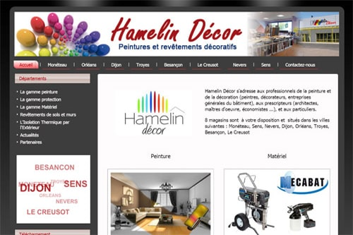 creation site web hamelin decor