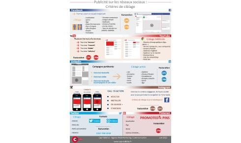 Infographie criteres de ciblage sur reseaux sociaux