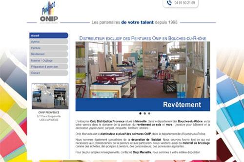 creation du site onip provence