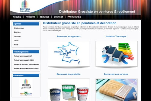 creation site web distributeur Tours