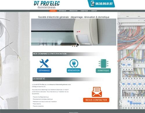 creation site web electricien orsay