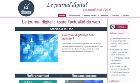 Journal Digital nouveau support Cap Visibilite