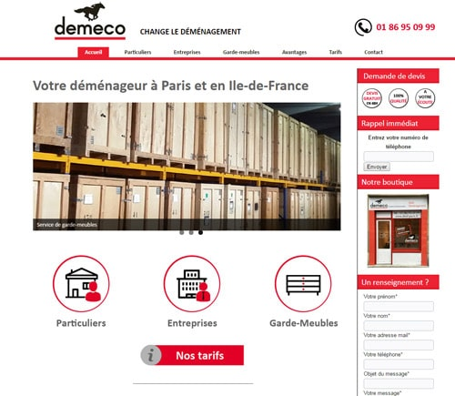site internet demeco