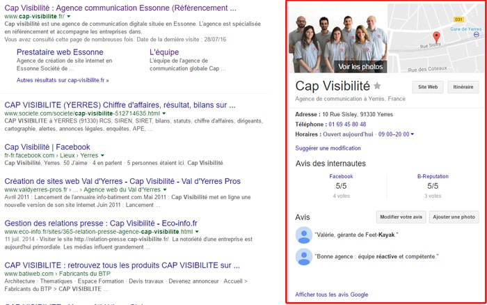 SEO : knowledge graph cap visibilite
