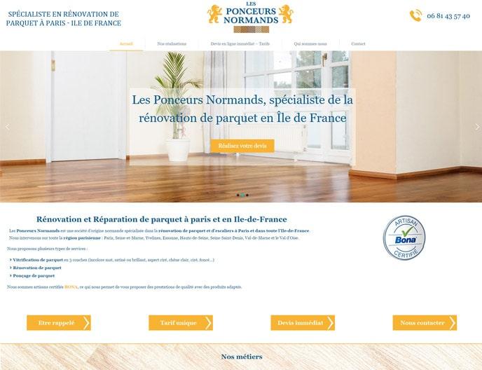 site web les ponceurs normands