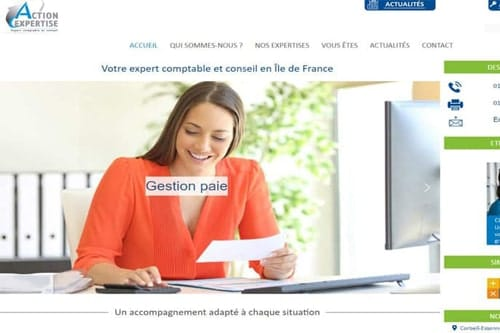 refonte site web action expertise essonne