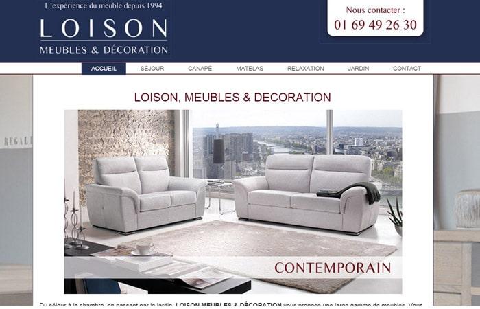 Site Internet Meubles Loison