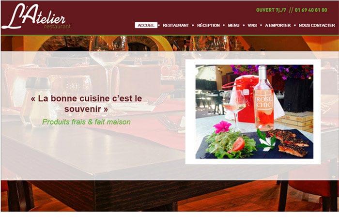 Site web Atelier