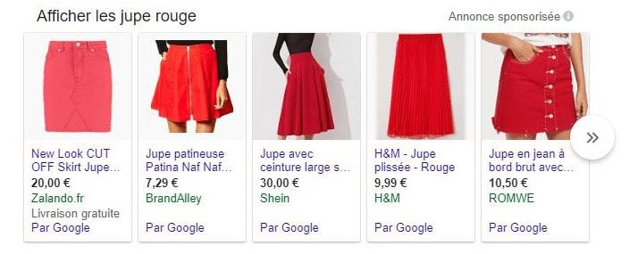 exemple annonces shopping