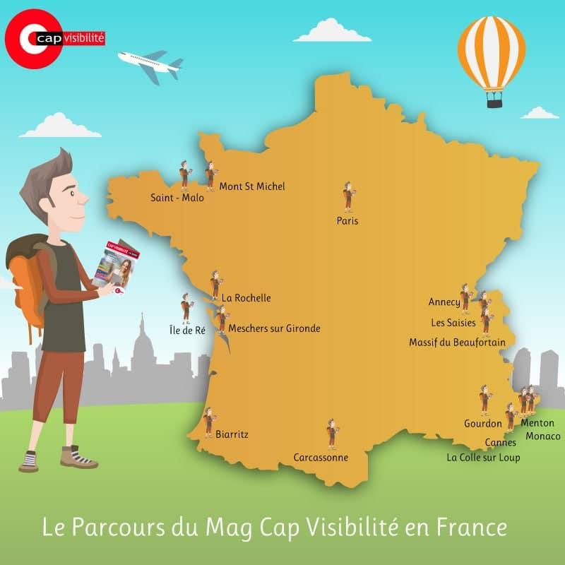 Parcours du Mag Cap Visibilite en France
