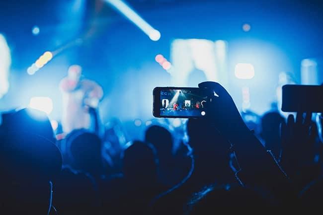 video en direct d'un concert