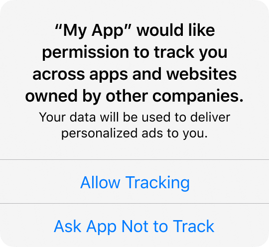 tracking popup ios 14